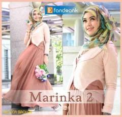 baju muslim modern dan trendy Pusat-Gamis-terbaru-New-Marinka2-Mocca-Brown