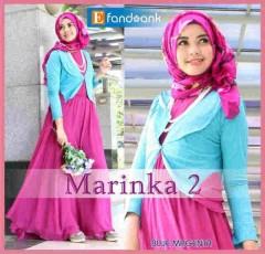 busana muslim modern terbaru Pusat-Gamis-terbaru-New-Marinka2-blue-Magenta