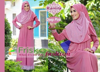 Model Baju yang lagi trend 2014 Pusat-Gamis-terbaru-kamila-by-frishka-Deep-Pink