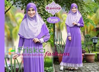 Model Baju Pusat-Gamis-terbaru-kamila-by-frishka-Purple