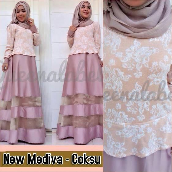 New Mediva Coksu Baju Muslim Gamis Modern