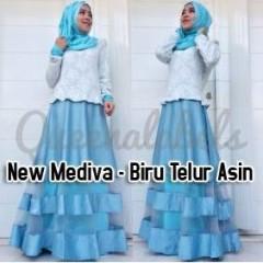 baju muslim hijabers Pusat-gamis-terbaru-New-Mediva-By-Queena-biru-telur-asin