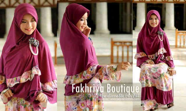 Vaniyya By Fakhriya Violet Baju Muslim Gamis Modern