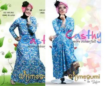 Model baju Gamis Modern pusat-Gamis-terbaru-Chasty-Dress-by-Orimegumi-Biru