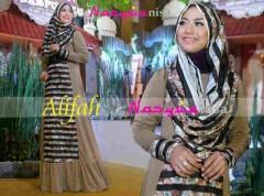 model baju muslimah pesta Gamis-Terbaru-Alifah-by-Nasywanisa-Coksu