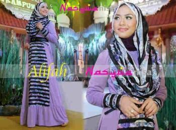 model baju hijab Gamis-Terbaru-Alifah-by-Nasywanisa-Lavender