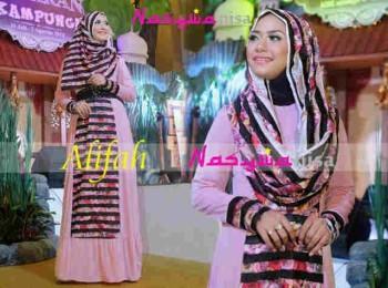 model baju muslimah trendy Gamis-Terbaru-Alifah-by-Nasywanisa-Pink