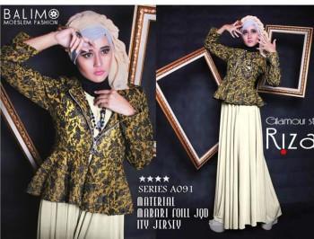 baju muslim elegan wanita Gamis-Terbaru-BALIMO-RIZAMI-Vol-III-Green-Mint