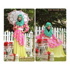 baju muslim eceran online Gamis-Terbaru-New-Azarenka-by-Ericsummer-Pink-Soft-Yellow