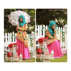 baju muslim etnik Gamis-Terbaru-New-Azarenka-by-Ericsummer-Pink-Soft-orange
