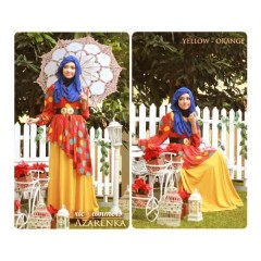 model baju muslim elegan baju dress muslim online Gamis-Terbaru-New-Azarenka-by-Ericsummer-Yellow-Orange