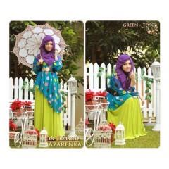 baju muslim eksklusif distributor baju muslim eceran Gamis-Terbaru-New-Azarenka-by-Ericsummer-green-Tosca