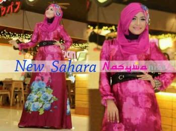 baju muslim elegan wanita Gamis-terbaru-New-Sahara-by-Nasywanisa-Burgundy
