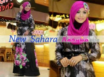 baju muslim eceran Gamis-terbaru-New-Sahara-by-Nasywanisa-Hitam
