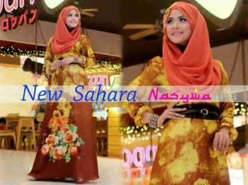 baju muslim gaya baru Gamis-terbaru-New-Sahara-by-Nasywanisa-Kuning