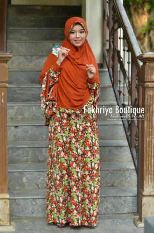 model baju muslim modern terbaru Pusat-Gamis-Terbaru-Agniya-Dress-Bata