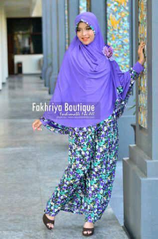 mode pakaian muslim modern Pusat-Gamis-Terbaru-Agniya-Dress-Ungu