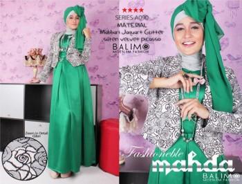 baju muslim fashion Pusat-Gamis-Terbaru-BALIMO-MAHDA-Hijau