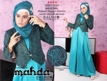 baju muslimah pesta Pusat-Gamis-Terbaru-BALIMO-MAHDA-Tosca