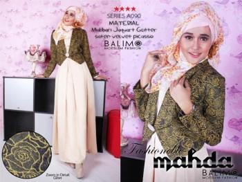 baju muslimah keren Pusat-Gamis-Terbaru-BALIMO-MAHDA-Vanilla