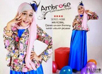 baju muslim pesta terbaru Pusat-Gamis-Terbaru-Balimo-Ambrose-Blue