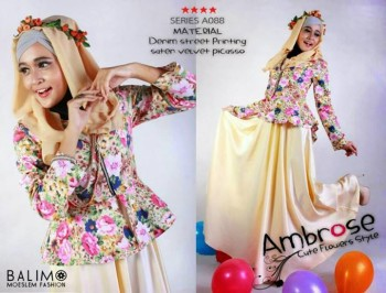 baju muslimah modern dan modis Pusat-Gamis-Terbaru-Balimo-Ambrose-Vanilla