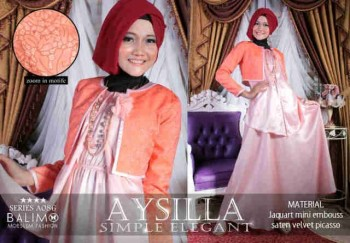 model baju muslim 2014 wanita Pusat-Gamis-Terbaru-Balimo-Aysilla-Baby-Pink