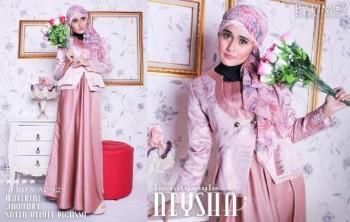 baju muslim trendy Pusat-Gamis-Terbaru-Balimo-Neysha-Beauty-Style-Salmon