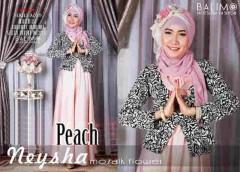 model baju gaun terbaru Pusat-Gamis-Terbaru-Balimo-Neysha-Mozaik-Flower-peach