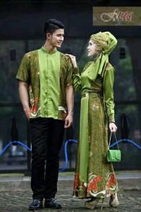 baju muslimah gaya Pusat-Gamis-Terbaru-FITRAH-FITRI-Hijau