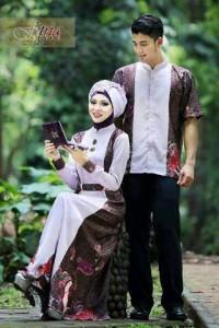 baju muslimah fesyen Pusat-Gamis-Terbaru-FITRAH-FITRI-Ungu-Muda