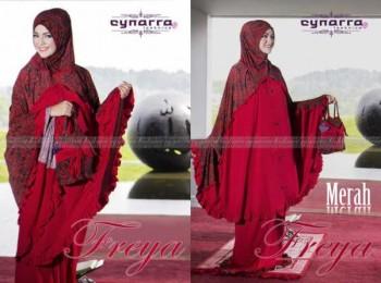 mukena cantik eksklusif Pusat-Gamis-Terbaru-Mukena-Freya-Batik-Merah