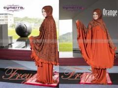 mukena cantik bordir Pusat-Gamis-Terbaru-Mukena-Freya-Batik-Orange