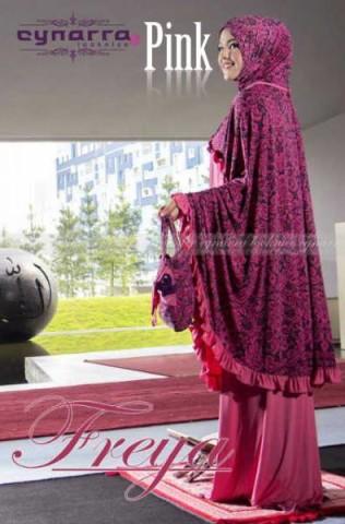 mukena bali grosir Pusat-Gamis-Terbaru-Mukena-Freya-Batik-Pink