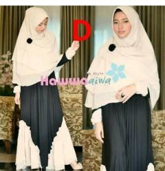 model baju terbaru muslim Pusat-Gamis-Terbaru-Nabawiyyah-by-Hawwa-Aiwa-Kode-D