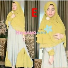 model baju yang lagi tren Pusat-Gamis-Terbaru-Nabawiyyah-by-Hawwa-Aiwa-Kode-E