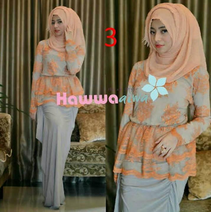Rossel By Hawwaaiwa Kode 3 Baju Muslim Gamis Modern