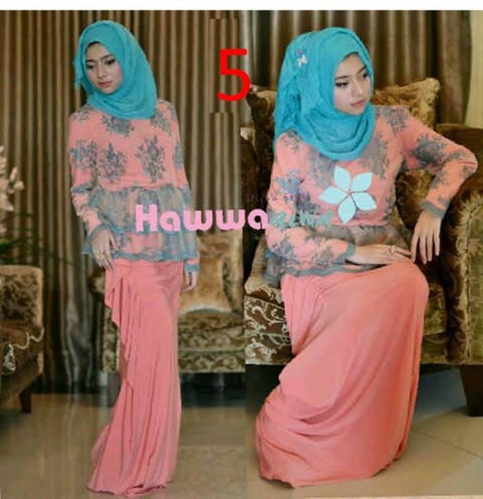 Rossel By Hawwaaiwa Kode 5 Baju Muslim Gamis Modern