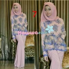 baju muslimah wanita terbaru Pusat-Gamis-Terbaru-Rossel-by-Hawwaaiwa-Kode-7