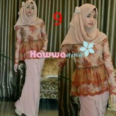 baju muslimah modern Pusat-Gamis-Terbaru-Rossel-by-Hawwaaiwa-Kode-9