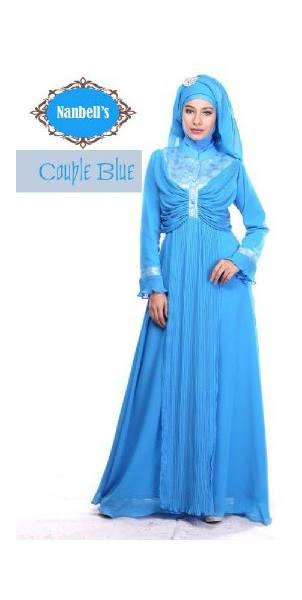 sarimbit couple modern Pusat-Gamis-Terbaru-Syura-Dress-by-Nanbells-Blue