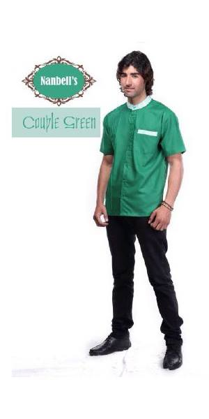 sarimbit gamis couple Pusat-Gamis-Terbaru-Syura-Koko-by-Nanbells-Green