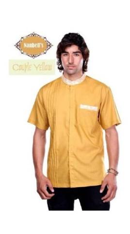 sarimbit couple muslim Pusat-Gamis-Terbaru-Syura-Koko-by-Nanbells-Yellow