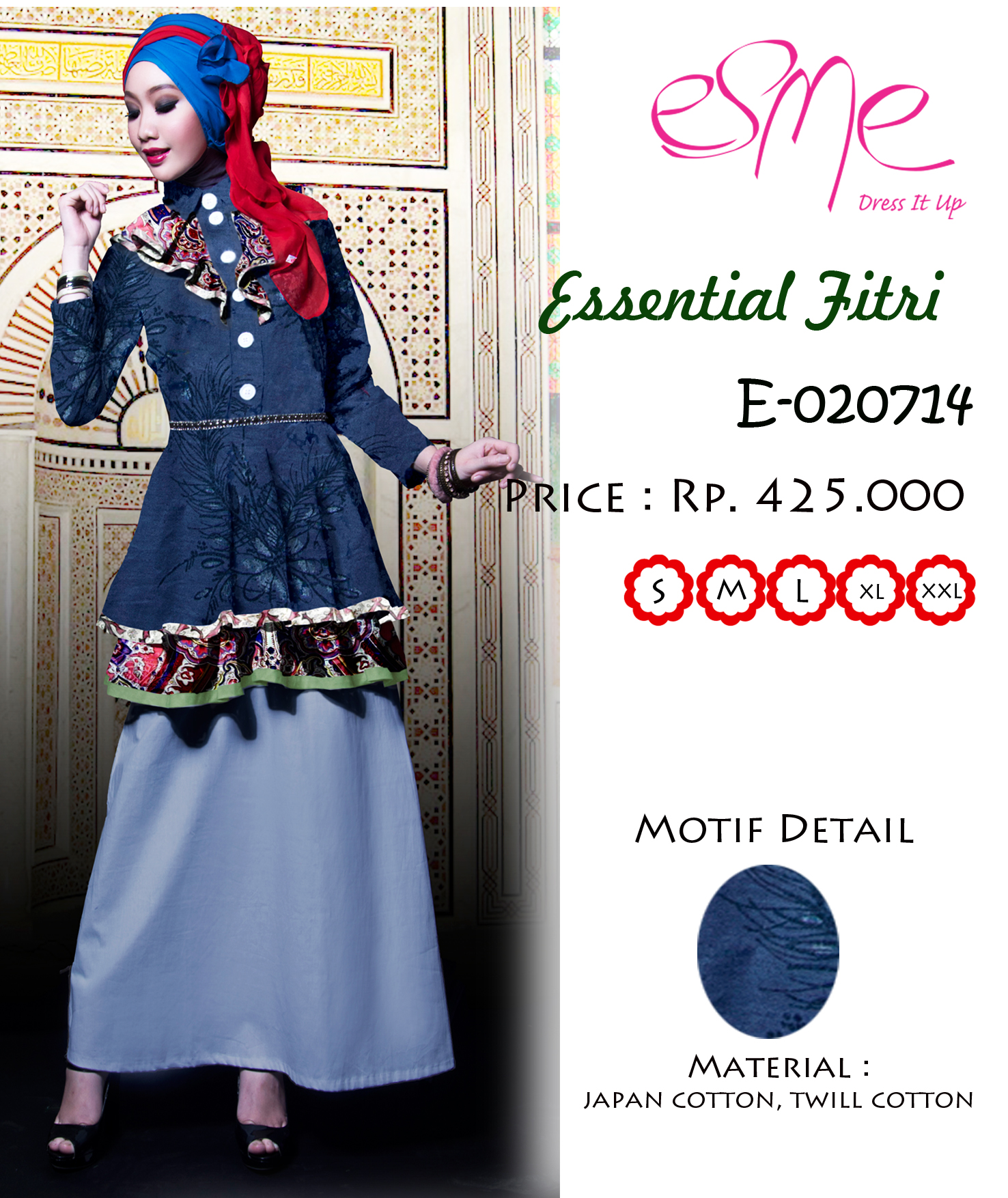 Esme Ef E 020714 Baju Muslim Gamis Modern