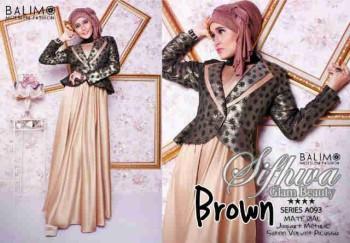 model baju muslim modern 2014 Pusat-Gamis-terbaru-Balimo-Sifhwa-Brown