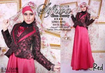 baju muslim wanita eksklusif Pusat-Gamis-terbaru-Balimo-Sifhwa-Red