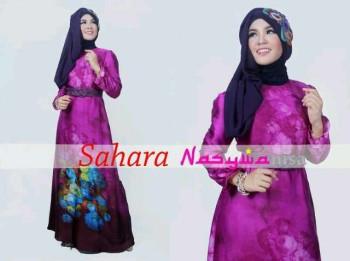 baju muslim modern anak perempuan Pusat-Gamis-terbaru-SAHARA-by-Nasywanisa-Burgundi