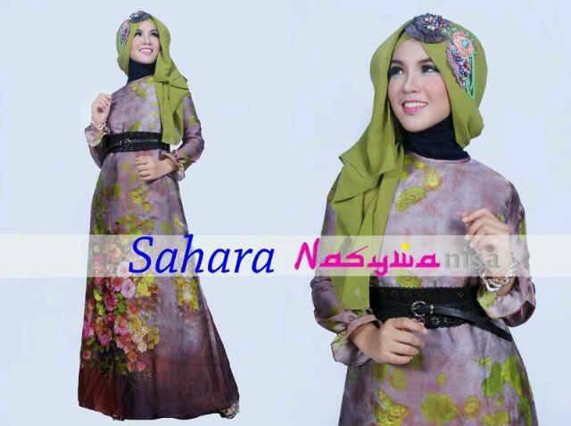 Sahara Coklat Baju Muslim Gamis Modern