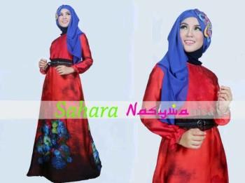 baju muslim modern dan elegan Pusat-Gamis-terbaru-SAHARA-by-Nasywanisa-Merah