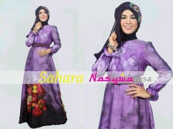 baju muslim modern dan elegan Pusat-Gamis-terbaru-SAHARA-by-Nasywanisa-Ungu
